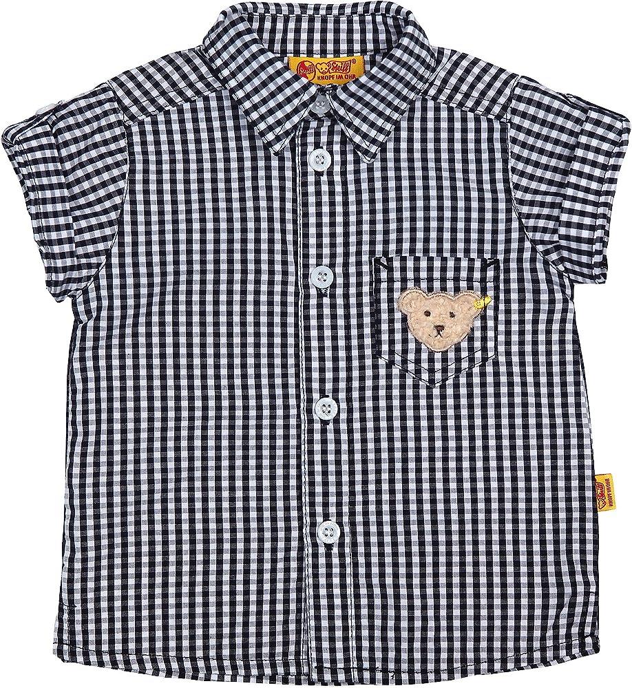 Steiff Camisa de manga corta, cuadriculado, Mini Boys Surfing Crew, 68 – 104 Gris multicolor: Amazon.es: Ropa y accesorios