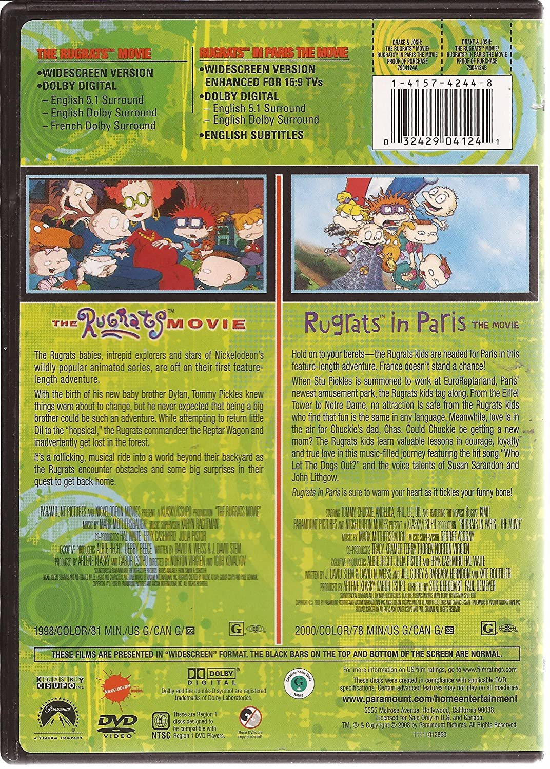 Amazon.com: The Rugrats Movie & Rugrats in Paris the Movie ...