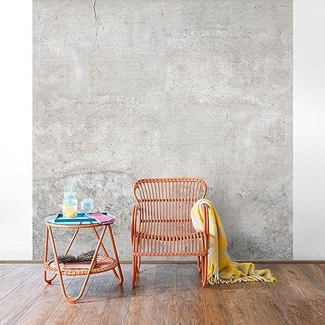 Amazon.com: Non-woven Wallpaper - Concrete Wallpaper - Shabby Plain ...