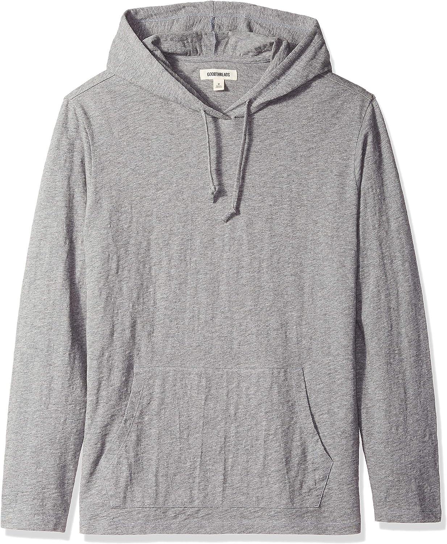 Amazon Brand - Goodthreads Men's Lightweight Slub T-Shirt Hoodie