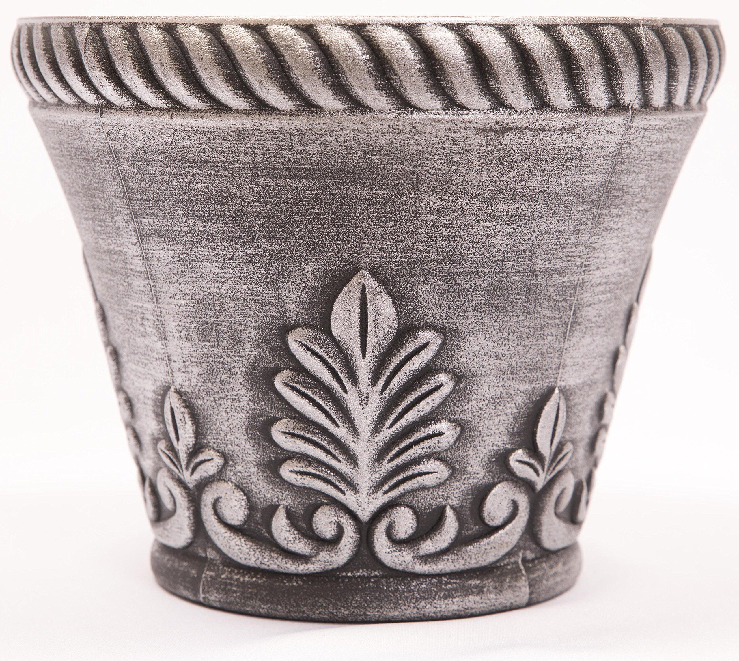 Corinthian Order Inspired Look Plastic Planter 10X8 Flowerpot for Indoor, Outdoor, Garden, Patio, Office Ornaments, Home Decor, Long Lasting Reusable, Light Weight, Water Resistant (Copper-CO1)