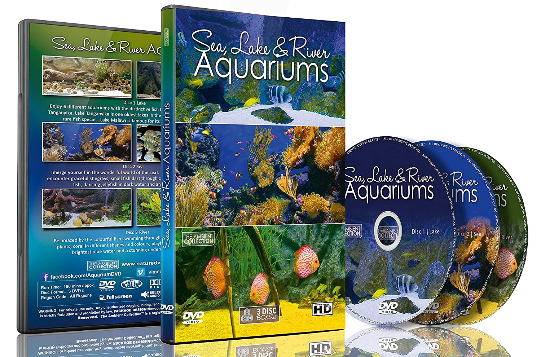 amazon com aquarium dvd 3 dvd set sea lakes u0026 river aquariums