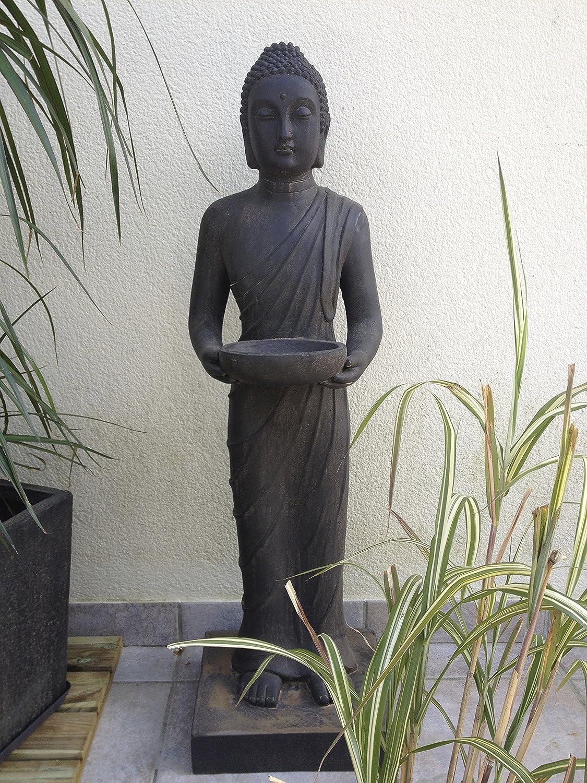 Loft Asia Statue Bouddha Debout avec Coupelle Marron 29 x 28 x 100 ...