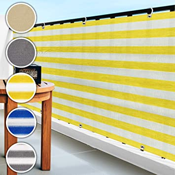 casa pura® Malla de ocultación para balcón o jardín, resistente a la intemperie, 90 x 500 cm, varios colores, amarillo: Amazon.es: Bricolaje y herramientas