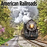 American Railroads 2018 Train Wall Calendar 12 x 12 inches Bright Day Calendars Publishing, 16 Month: September 2017 - December 2018