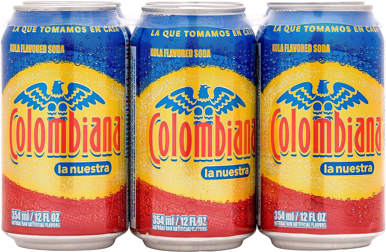 Colombiana la nuestra Kola Flavored Soda, 12 Fl Oz (Pack of 6)