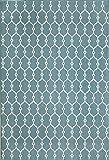 "Momeni Rugs BAJA0BAJ-2BLU1837, Baja Collection Contemporary Indoor & Outdoor Area Rug, Easy to Clean, UV protected & Fade Resistant, 1'8"" x 3'7"", Blue"