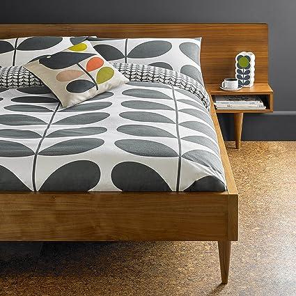 Orla Kiely - Funda de edredón, diseño de tallo gigante, color gris, algodón