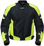 Pilot Motosport Men's Direct Air Mesh Motorcycle Jacket (V3) (Hi-Vis, Large)