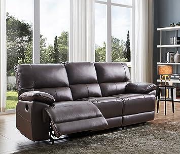 SC Furniture Ltd - Sofá reclinable Manual de Piel de Alta ...