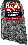 "BRUBAKER 2 paia di calze termiche ""Heat my Feet"" - unisex - grigio 39-42"