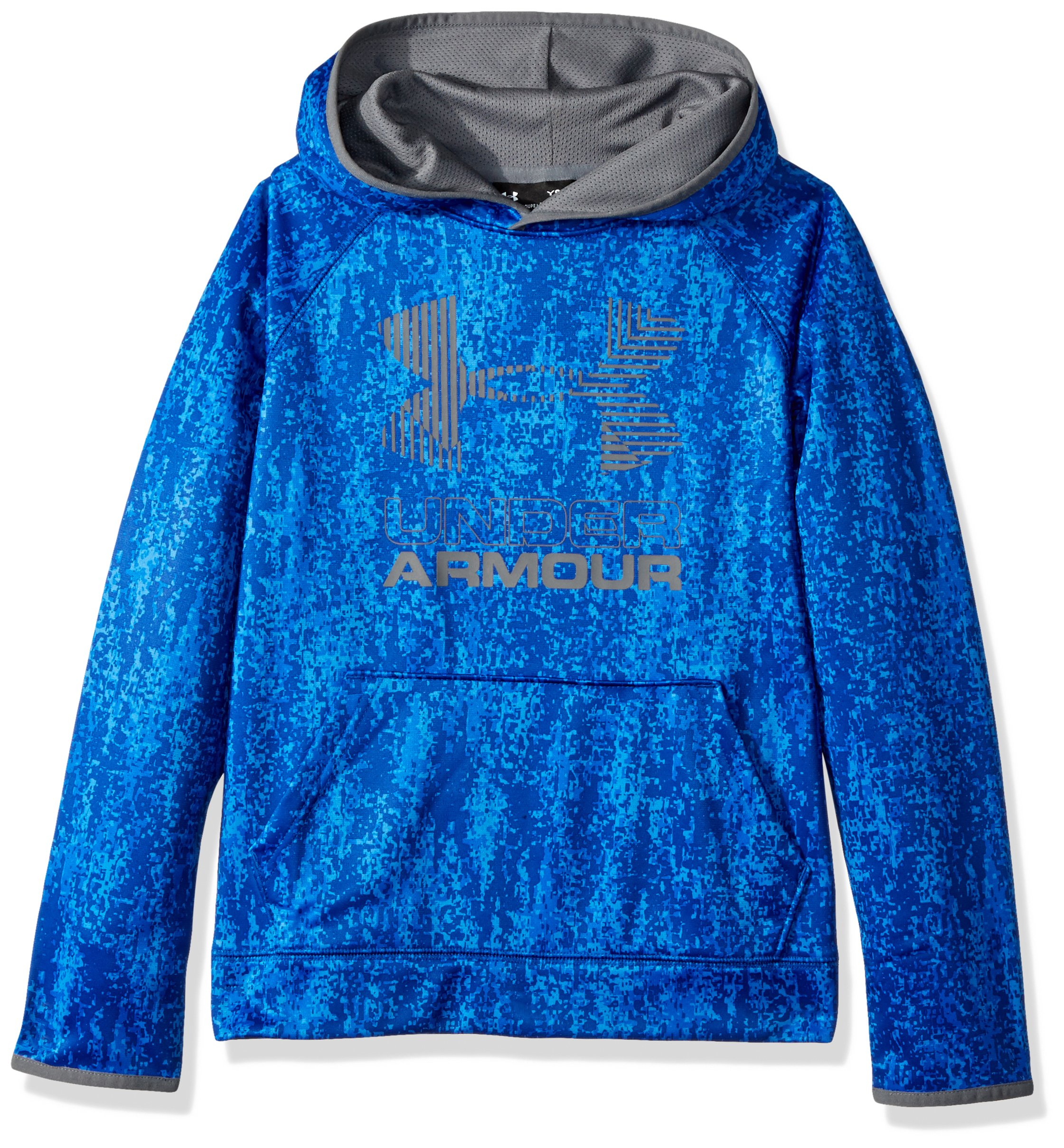 Under Armour Boys' Armour Fleece Printed Big Logo Hoodie, Ultra Blue /Ultra Blue, Youth X-Small by Under Armour