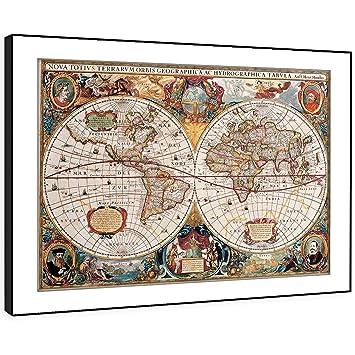 BFAB410d Gerahmtes Bild Druck Wandkunst   Alte Weltkarte Im Alter Aussieht  Moderne Abstrakte Landschaft Wohnzimmer Schlafzimmer