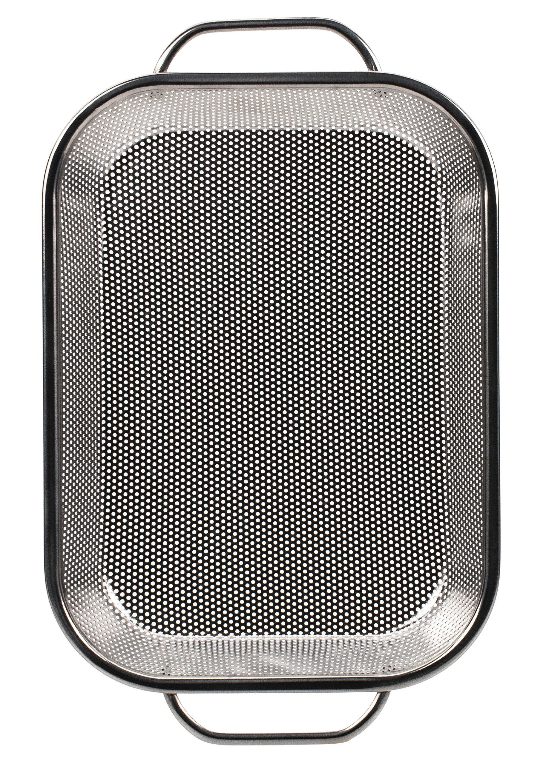 RSVP BQ-RP BBQ Precision Pierced Stainless Steel Roasting Pan