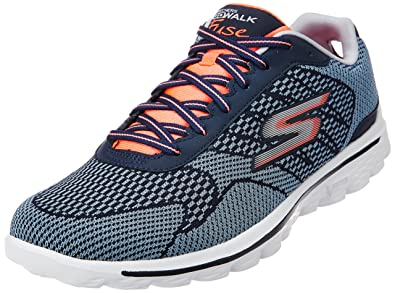 ba2810154b Skechers Performance Women's Go Walk 2 Fuse Lace-Up Shoe,Navy/Coral,