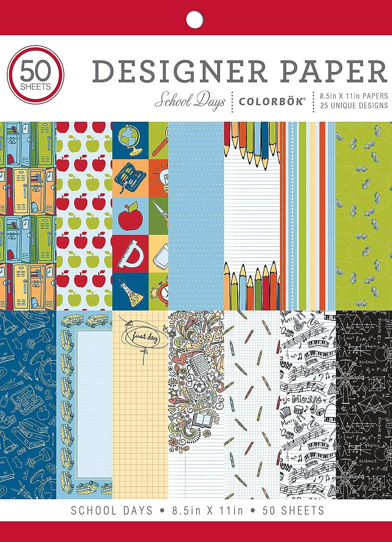 Colorbok Designer Paper Pad, 8.5