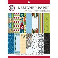 "ColorBok 75338 Designer Paper Pad School Days, 8.5"" x 11"""