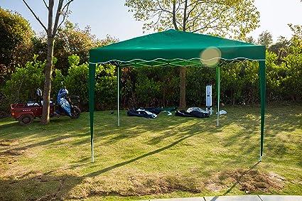 Huini 3 x 3 m Carpa Pop-up Tienda para jardín Fiesta BBQ Event Boda Impermeable Crema Solar pabellón toldo Exterior Carpa sin Paredes Laterales: Amazon.es: Jardín