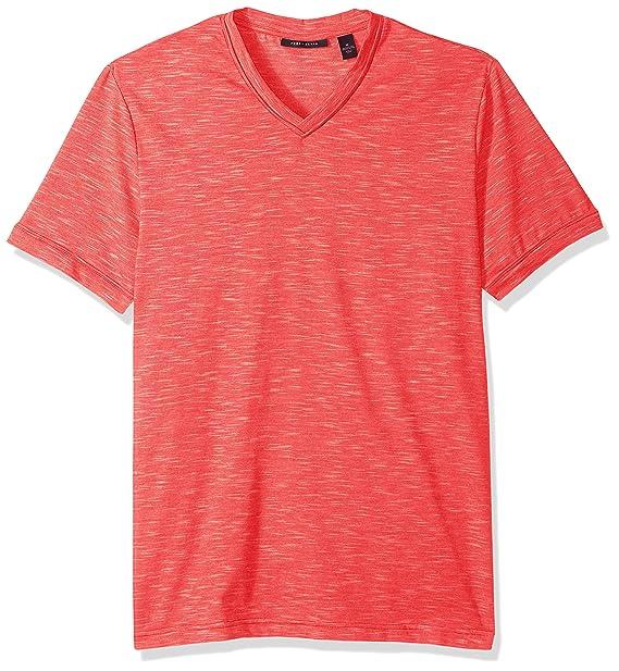 Perry Ellis Mens Texture Slub V Neck Tee Shirt Amazoncom