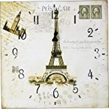 hippih silent round wall clocks 12 inches living room decorative vintage country brick desk wall clock