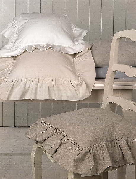 Copricuscino per sedia con gala della Blanc Mariclo Basic Collection colore bicolor