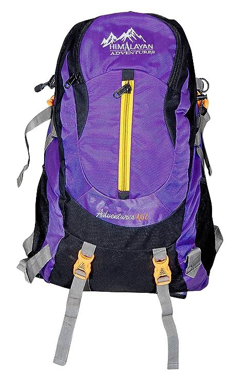 20d19f5ae82e Himalayan Adventures 40 Ltrs Purple Backpack Rucksack Travelling Bag Hiking  Bag Adventure Bag Camping Bag with Rain Cover (Nylon