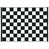 Camco 42827 Reversible Outdoor Mat (9' x 12', Checkered)
