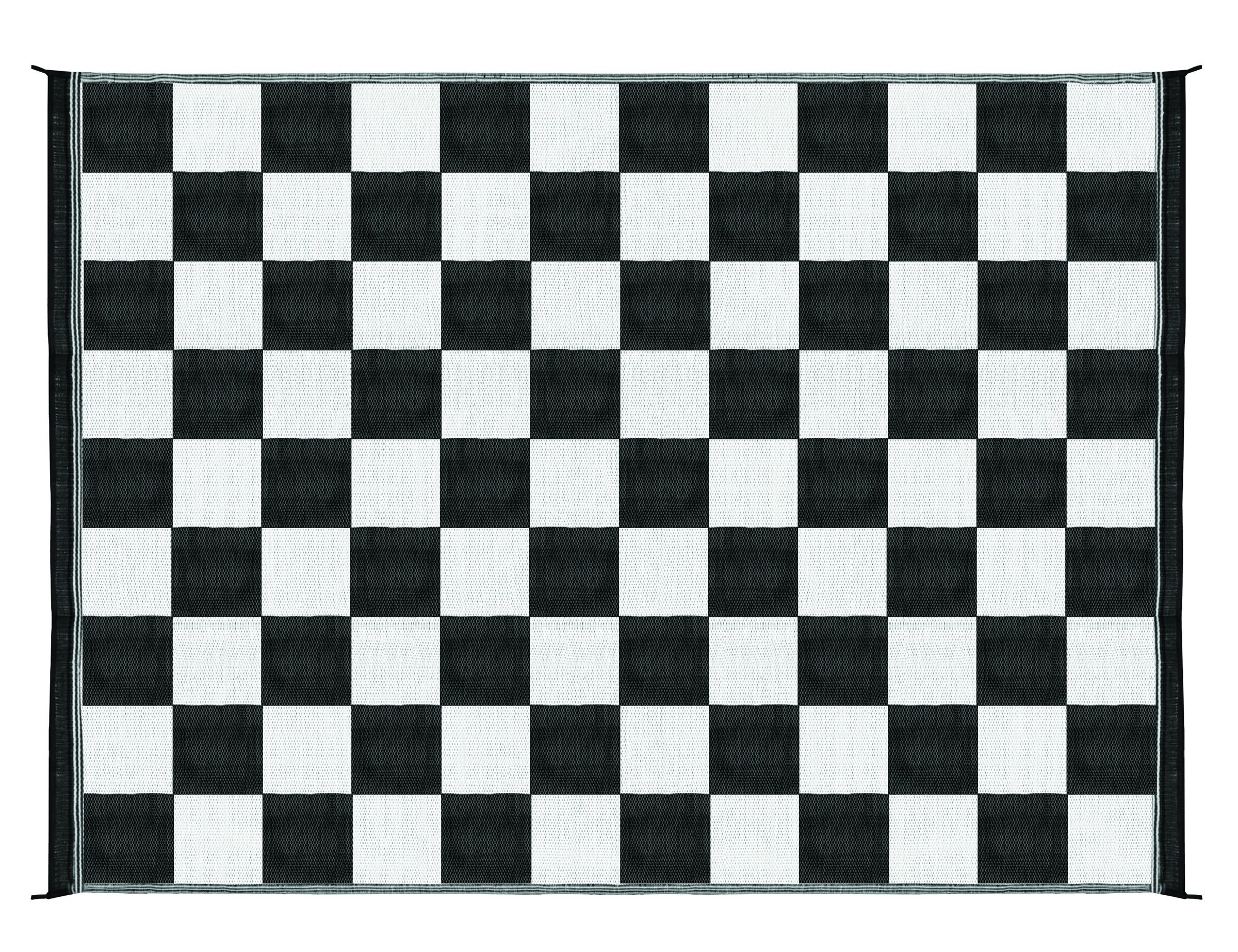 Outdoor Patio Mat Rv 9 X 12 Camping Checkered Reversible