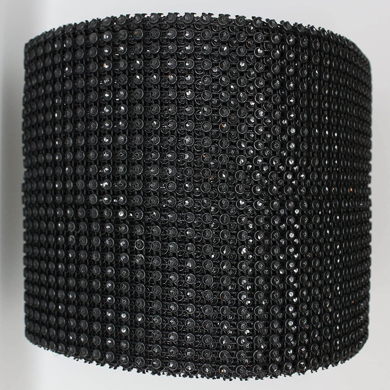 "4.75/"" x 1 3 5 YD Light Pink Rhinestone Diamond Mesh Wrap 24 Row Sparkle Crystal"