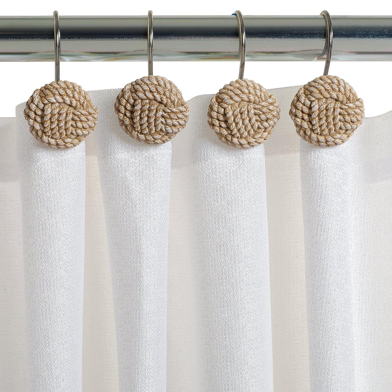Amazon.com: Zenna Home, India Ink Seaside Serenity Shower Curtain ...