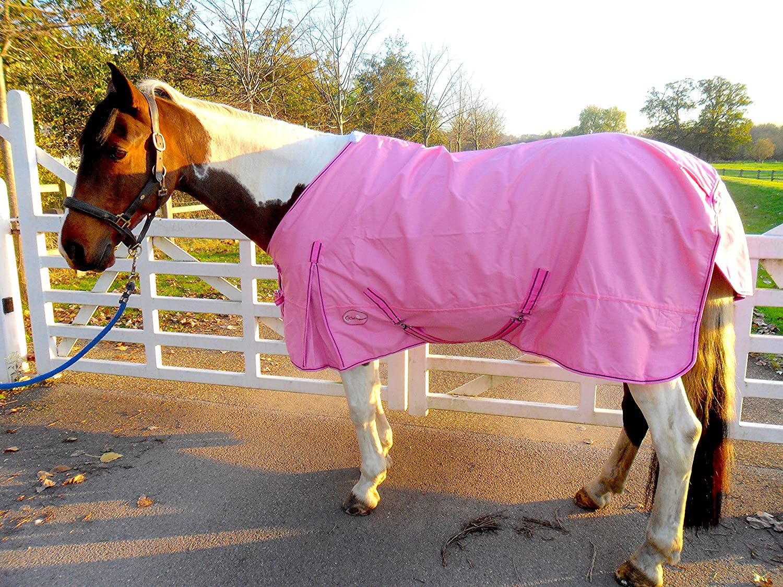 CWELL Equine New LightWeight Black//Purple turnout rug//rain sheet no fill