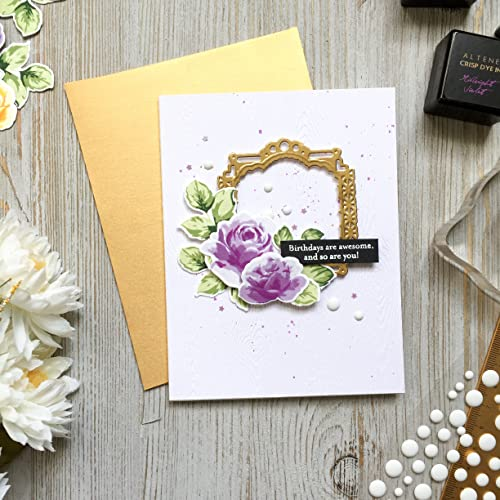 Amazon Flower Birthday Card Roses Gold Happy Birthday