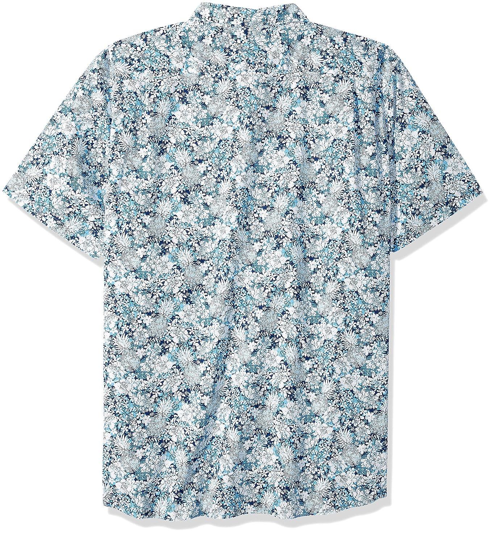 Nautica Mens Big and Tall Short Sleeve Pineapple Print Button Down Shirt