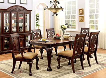 247SHOPATHOME IDF 3185T 7PC Dining Room Sets, 7 Piece
