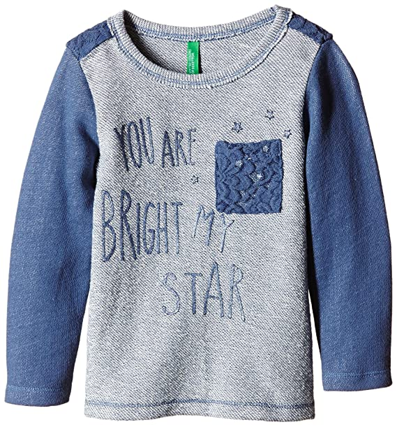 United Colors of Benetton 3PQ6C12RP Bright Star Sweat, Sudadera para Niñas, Morado, 12-18 Meses: Amazon.es: Ropa y accesorios