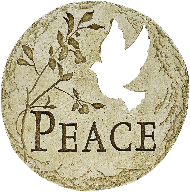 Roman Dove Bird Cut-Out Peace Decorative Garden Patio Stepping Stone, 12-Inch