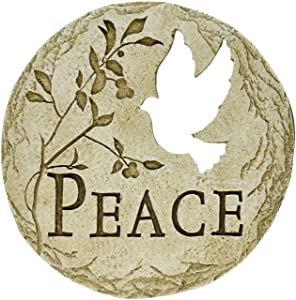 Roman Dove Bird Cut-Out Peace Decorative Garden Patio Stepping Stone, 12-Inch