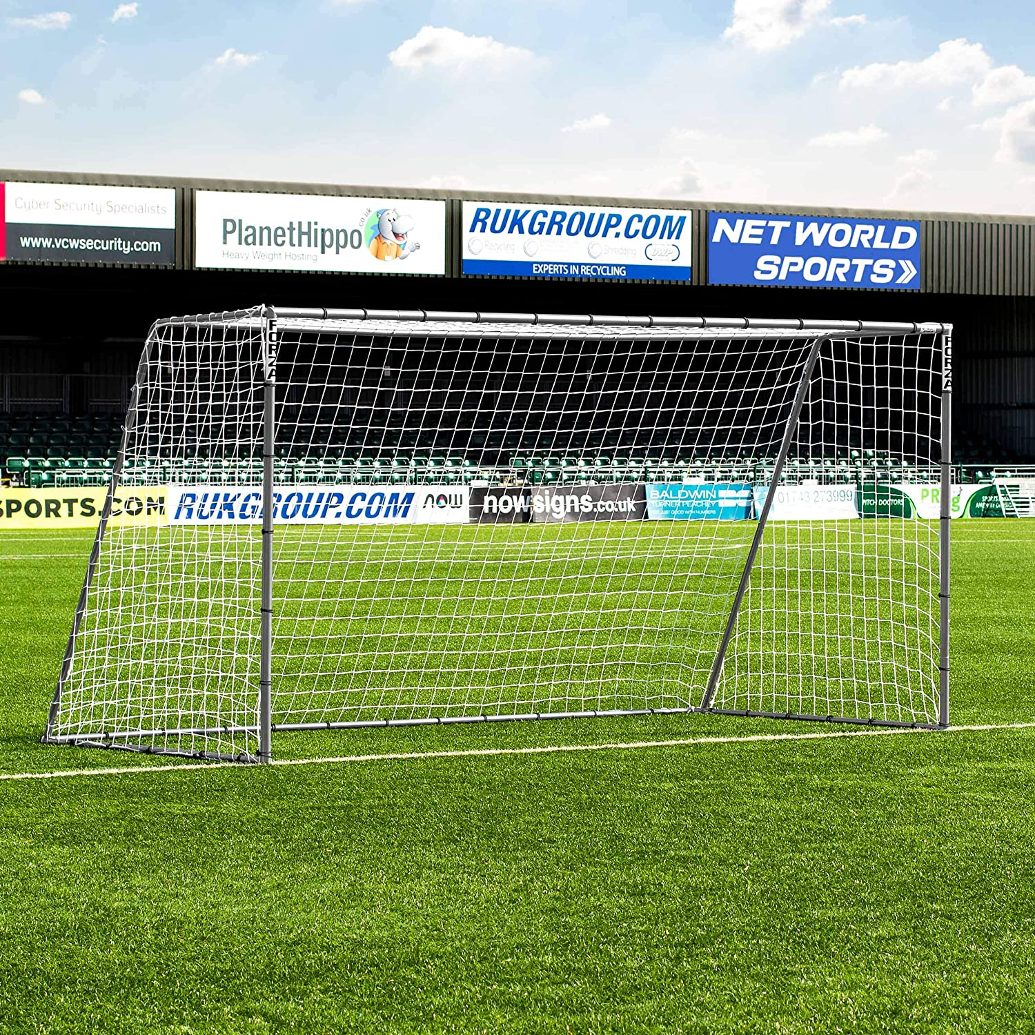 12 x 6 FORZA steel42 Soccer Goal – [ The StrongestスチールGoal Post & Netパッケージwith Soccer Goal Targetトレーニングシート]  with Target Sheet + Ball B018UCJUZ0