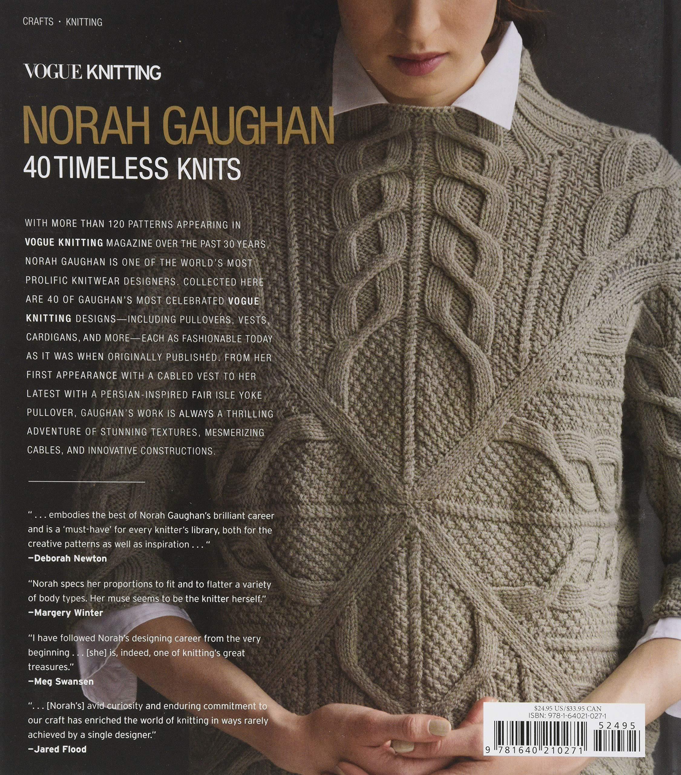 Vogue® Knitting: Norah Gaughan: 40 Timeless Knits: Vogue Knitting