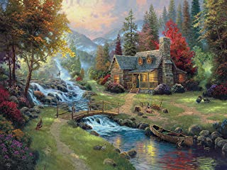 product image for Ceaco 3401-40 Thomas Kinkade Mountain Paradise Puzzle - 1500Piece