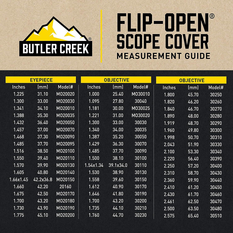 Nero schwarz Taglia unica Bushnell Protezione per mirino telescopico Flip-open/™ Butler Creek