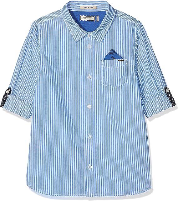 Scotch /& Soda Boys Regular Fit Blue Series Shirt Blouse