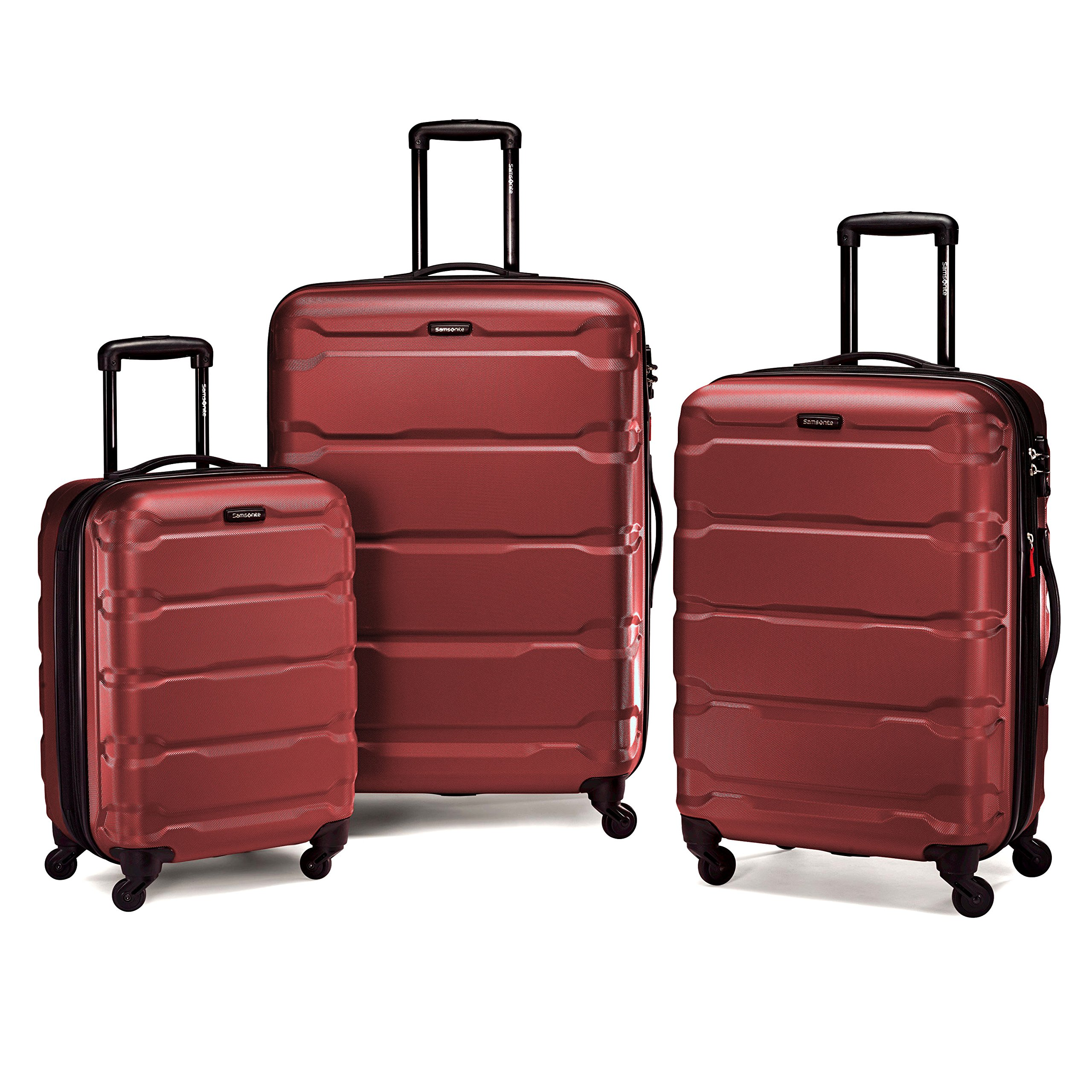 Samsonite Omni Hardside 3 Piece Nested Set (20/24/28) (Red) by Samsonite