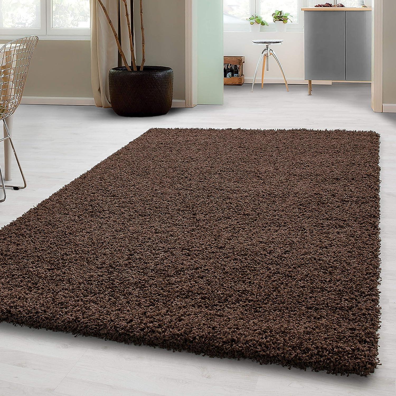 Flauschige Teppiche Hochflor Shaggy Langflor Uni Farben Wohnzimmer Pflegeleicht*
