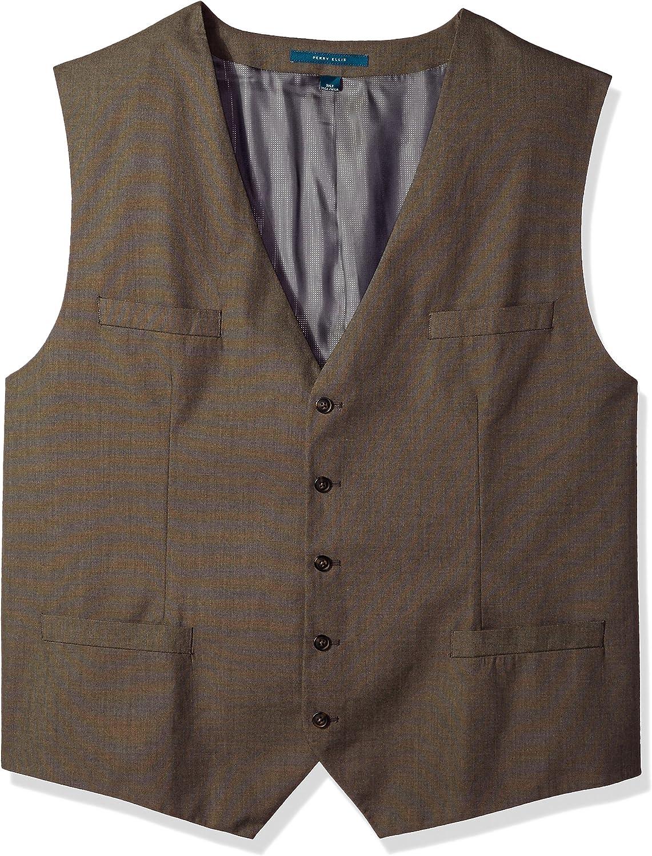 Perry Ellis Men's Regular Fit, Pattern Twill Suit Vest