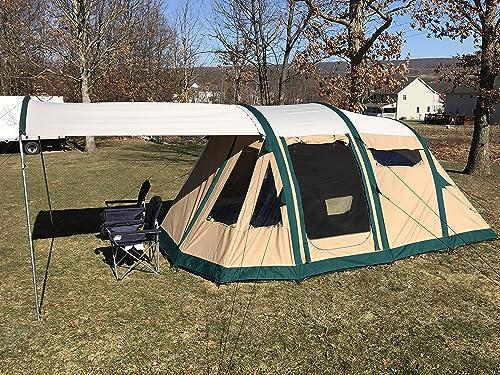 Wildcat Outdoor Gear Premium Family Camping Tent 100 Waterproof Sleeps 4-10 Sets Up