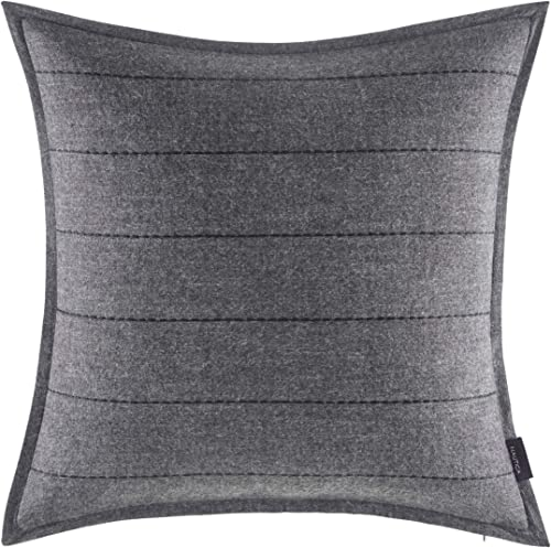 Nautica Pinecrest Throw Pillow, 18×18, Charcoal