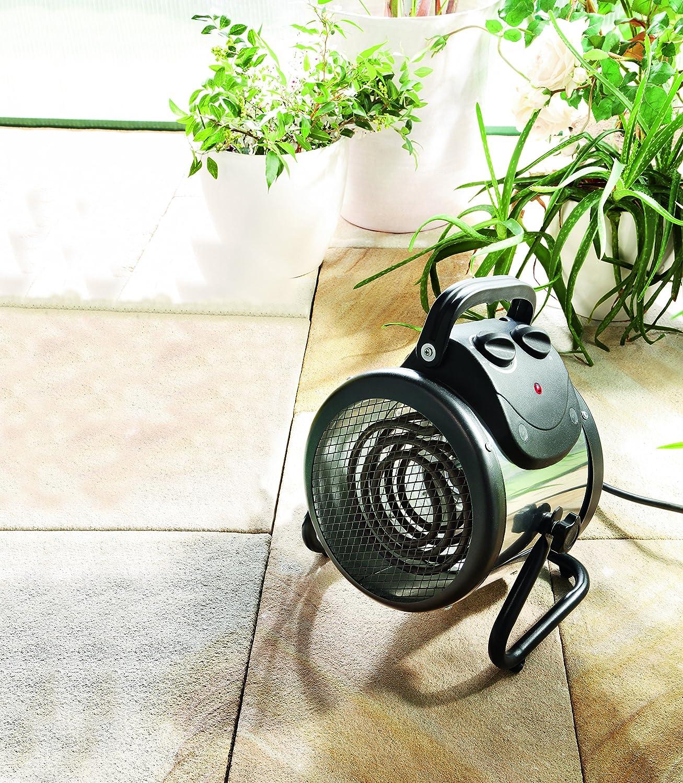 Vitavia Gewächshausheizung PALMA 2 kW, manuell / Elektro-Gebläseheizung / mit Bimetall-Thermostat 0-85 °C