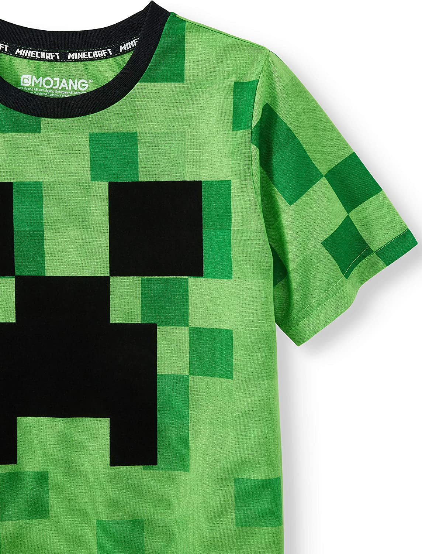 Minecraft Boys Zombie Creeper Mob Swarm T-Shirt
