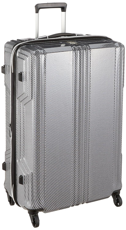 [レジェンドウォーカー] スーツケース 新素材PCファイバー採用 保証付 89L 70 cm 3.6kg B077XW9HKK シルバーカーボン
